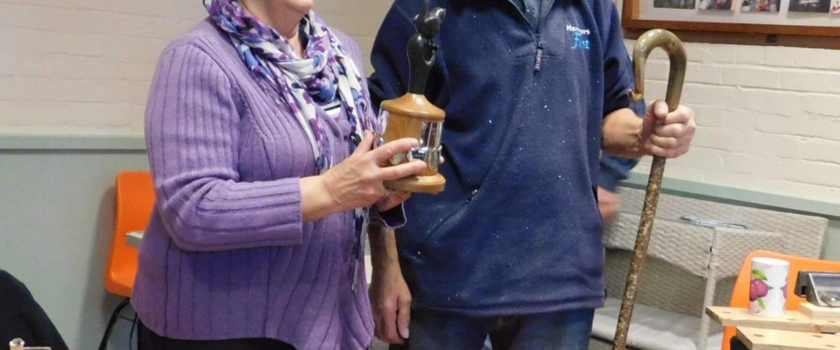 Winner Brian Waters presented by Anne Ames