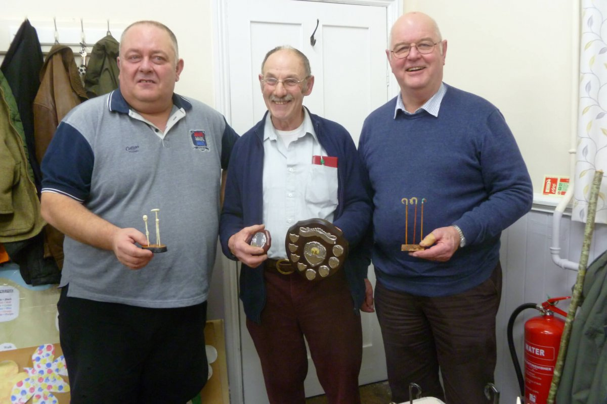 Winners AGM Competition Martin Wild & David Taylor Shield shared & presented by Clive Collins
