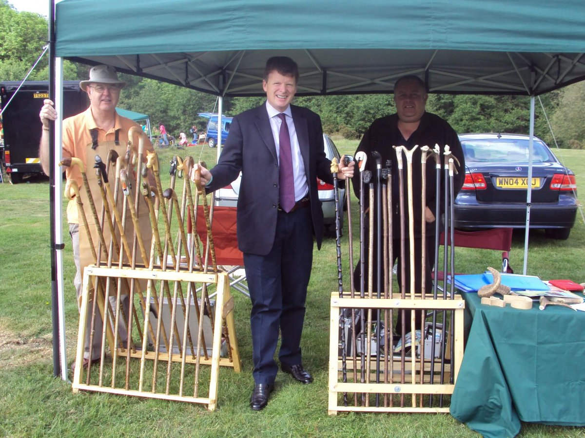 Visiting our stand our Patron Richard Benyon MP