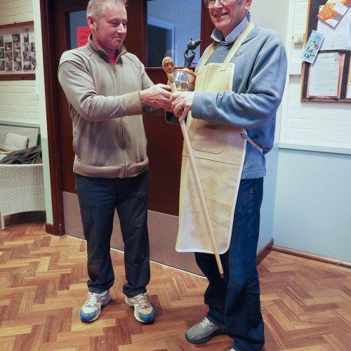 Phil Daniels Winner Memorial Trophy 2017 with Judge Mr Neil Rampton