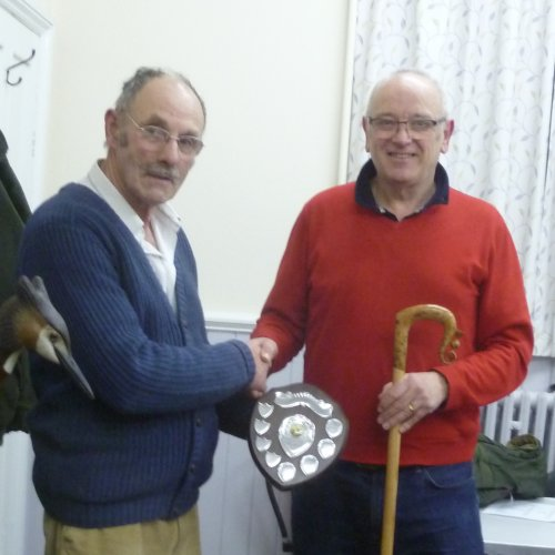 Phil Daniels Receiving Clive Collins Trophy For Year 2017