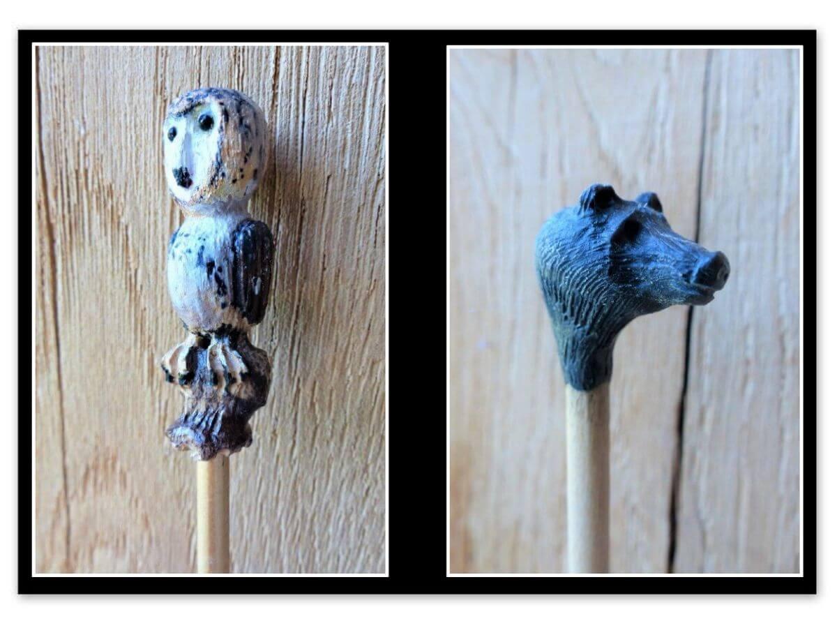 Phil Daniels (Grandchildrens request to make sticks from lollypop sticks)