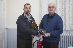 Presentation Of Clive Collins Trophy to Martin For his Fine Leg Cleek
